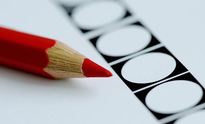 rode potlood voor verkiezingen