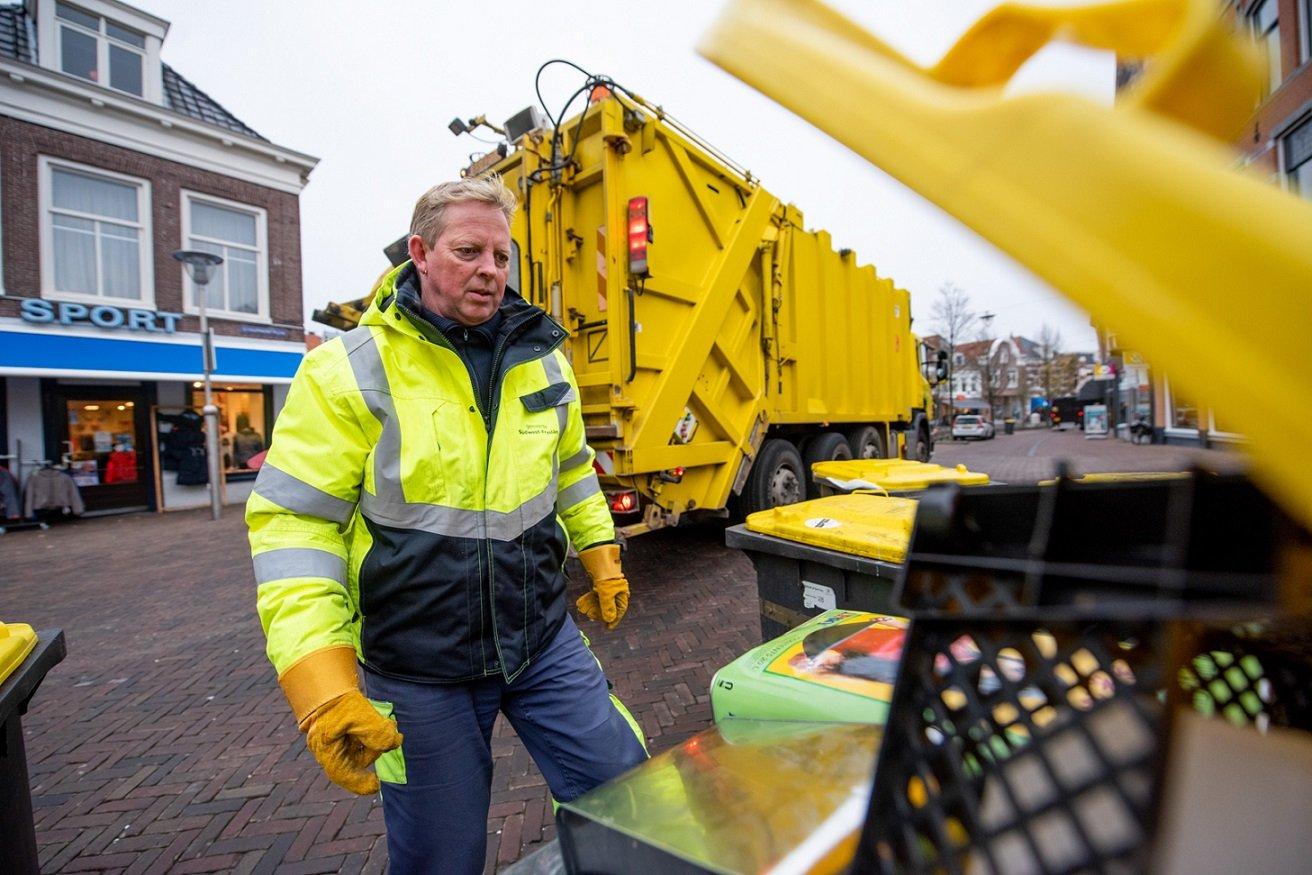 Bedrijfsafval container ophalen