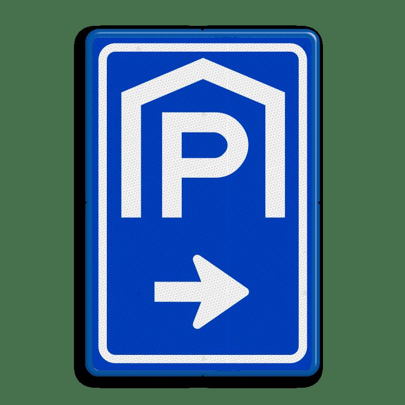 Bord ingang parkeergarage
