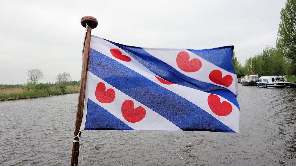 Friese vlag op een boot