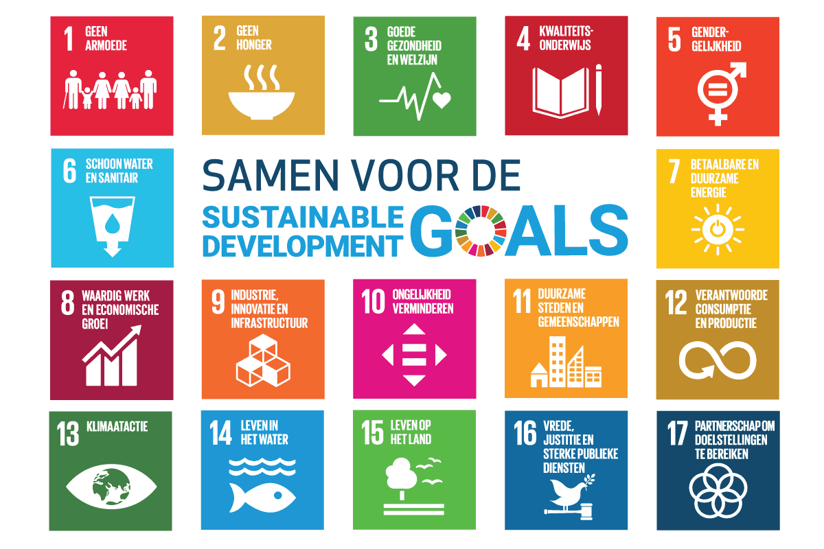 Vlag met Global Goals